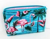 Flamingo Paradise, Make-up Bag, Cosmetic Zipper Pouch