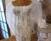 Vintage Inspired Tabletop Dress Form In White Custom Order For Mark