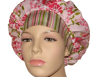 Scrub Hats - Dainty Blossoms Floral In Pink