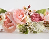 Floral Halo Made to match Dollcake or Well Dressed Wolf...Flower Girl, Bridesmaid, portraits, Bridal, Dress up