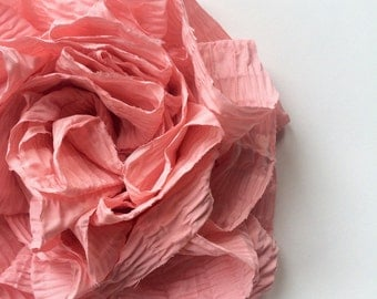 SWANKY Vintage Couture Fabric Flower - Coral  - (Made to Order) - Photo Prop - Spring Easter Wedding