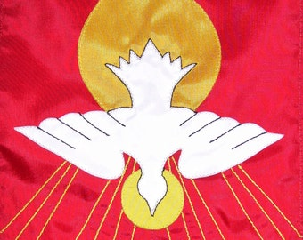 Cofirmation/Pentecost 12 inch by 18 inch Garden Flag