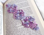 Lilacs Butterfly Bookmark in Tatting Lace - Janessa