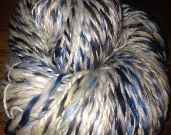 "114 Yards Luxury Handspun 2-ply Merino, Suri Alpaca, Bamboo, Tussah Silk and Nylon Yarn ""Beach"""