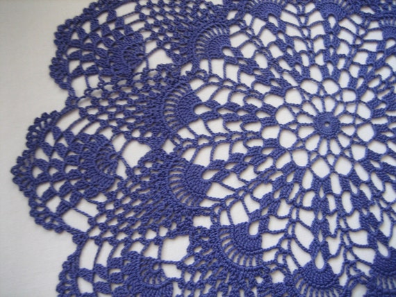 Hand made, new, crochet violet/purple  gift doily,   home decor,detailed, lacy