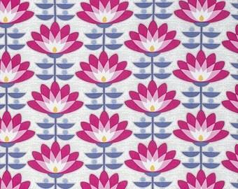 Atrium Fabric by Joel Dewberry Deco Bloom Vintage Fuchsia Pink Floral Flowers