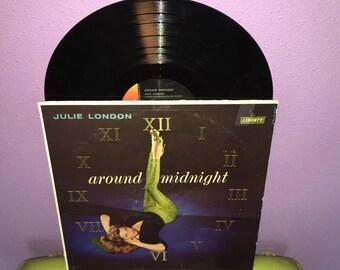 FINAL SALE Vinyl Record Album Julie London - Around MIdnight LP 1960 Torch Singer Vocals Traditional