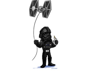 Tiny Tie Fighter Pilot's Day Off