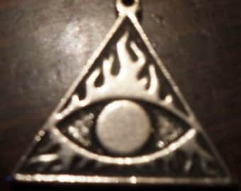 Spellbinder evil eye black magick protection pendant