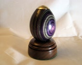 Kaleidoscope Purple Color Grain Wood And Base