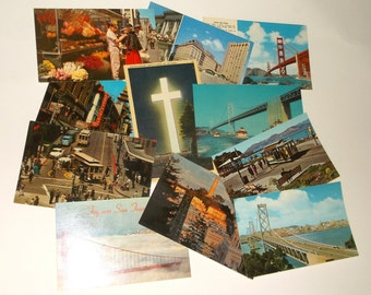 Vintage SAN FRANCISCO, CA PostCards • 11 count