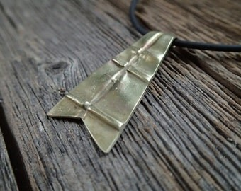Fold formed Nu Gold pendant