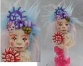 Candy Goddess OOAK Fairy Fairies Art Dolls NEW Figurine Polymer Clay Multi-Color