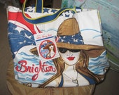 Famous Maker Cloth Beach Tote/NOS/Chic Tote Bag