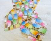 Vintage Neck Scarf Geometric Design Cathy 1000 Oaks California
