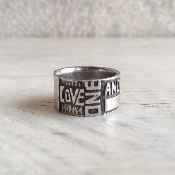 Sterling Silver Bible Scripture Ring Size