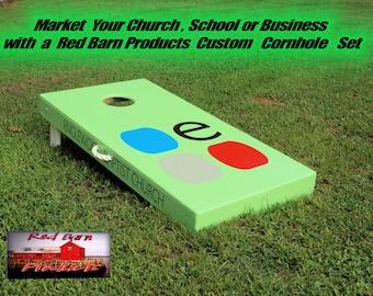 Handmade Deluxe Custom Themed Cornhole Board Set