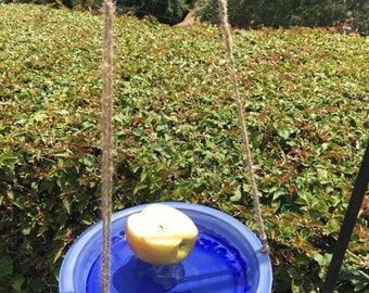 Blue Fruit & Grains Bird Feeder - Ceramic Bird Feeder