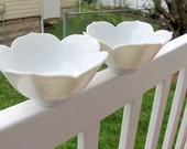 Vintage White Lotus Bowls