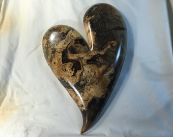 Heart best gift ever 50th Anniversary gift heart wood carving wall wood sculpture by Gary burns the treewiz