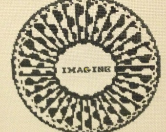 NEW PDF Version The Beatles John Lennon Imagine Mosaic from Central Park NYC plus Bonus Counted Cross Stitch Chart  Immediate Download