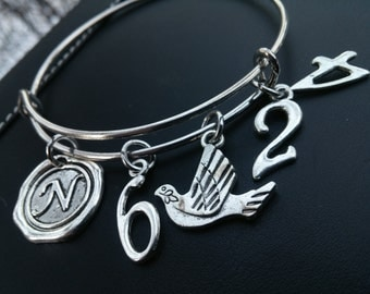 CHRISTIAN BRACELET, Scripture Bangle Bracelet, NUMBERS-The Lord Bless You And Keep You;