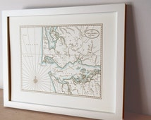 The Columbia River, Letterpress Printed Map