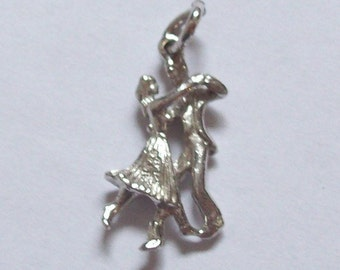 Sterling Silver Charms Dancing Couple