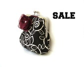 Small clutch purse, metal frame, brown and white, cotton purse, silver kisslock frame, girls purse, casual clutch