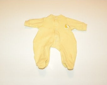 Yellow Footed Sleeper - 14 - 15 inch boy doll clothes