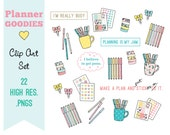 Planner GOODIES! Clip Art Set for personal and commercial use-planners, bando, happy planner, quotes, planner girl, pens, planner clips