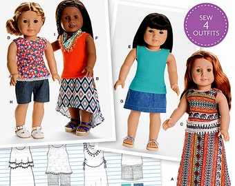 18 inch Doll Clothes Pattern, American Girl Doll Clothes Pattern, Simplicity Sewing Pattern 8040