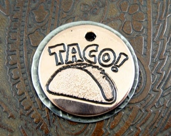 Taco-Custom ID Dog Tag - Personalized Dog Collar ID Tag - Pet ID Tag for Dogs