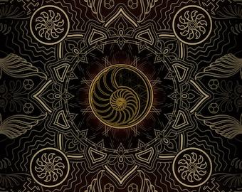 Nautilus Tapestry Paper Print  - 11 x 17
