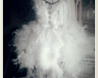 Shabby chic altered swan lake mannequin