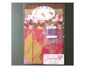 DIY Kit - Paper Bird Garland - 3-D Bird Garland - Make Your Own Garland - Do It Yourself Kit - Decorative Birds- Pink, Purple, Gold