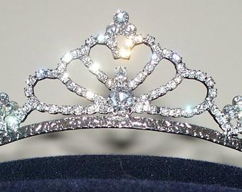 Rhinestone Tiara, Bridal Headband, Wedding Tiara, Bridal Fascinator