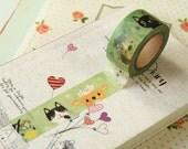 KITTY CATS Sweet Cartoon Washi Masking Tape