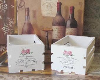 paris bathroom set. Paris Decor Crates Set  French Storage Shabby Chic Country Cottage Pink bathroom decor Etsy