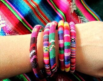 Tribal Woven bracelet, Bohemian Jewelry, Aguayo, Boho, Tribal jewelry
