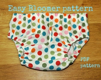 Baby Bloomer pattern, Baby Diaper Cover pattern, Baby sewing pattern pdf, Bloomer pattern, Nappy Cover pattern (S106) - 4 Sizes 0-24mth.