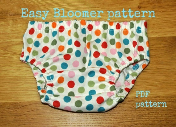 Baby Bloomer pattern, Baby Diaper Cover pattern, Baby sewing pattern ...