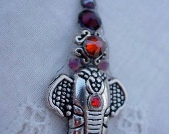 Smooch Ganesha Bindi - swarovski belly dance crystal tribal bindi