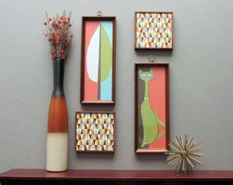 modern wall art - Uptown Atomic  - a 4 pc wall art collection