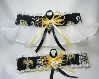 New Orleans Saints handmade wedding garters sports garter