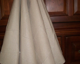 """AMAZING 54""""  Taupe with Pearl Beading Reversible Christmas Tree Skirt 2016 Collection"""