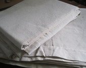 Pair of country French hemp metis sheets - perfect for upholstery, projects, tablecloth.  Excellent fabric
