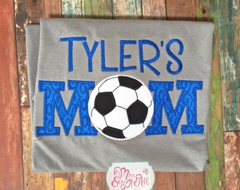 Gray and Royal Soccer Mom Shirt, Sports Mom Shirt, Custom Sports Mom Shirt, Soccer Mom Shirt, Soccer Mom Tee