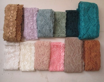 Lace Color Chart, Build Your Own Wedding Garters, Stretch Lace Create Your Own Bridal Accessories, DIY Bride, Headband Supplies