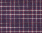 """Navy ~ Red ~ White Frame Plaid Fabric ~ 10"""" x 13"""" Remnant ~ Material 4 Scrap Quilt Piecing - Fun Sewing Projects  Inventory # PL 15"""